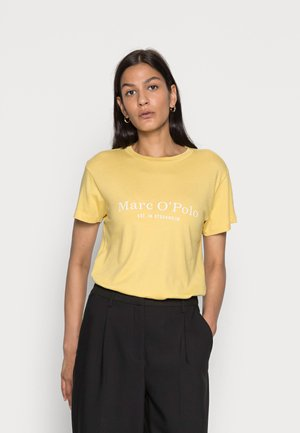 SHORT SLEEVE ROUND NECK PLACED PRINT - Print T-shirt - dusty lemon