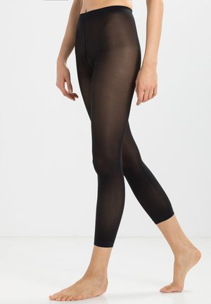 FALKE PURE MATT 50 DENIER CAPRI HALB-BLICKDICHT MATT SCHWARZ - Leggings - Stockings - black