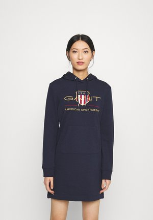 ARCHIVE SHIELD HOODIE DRESS - Day dress - evening blue