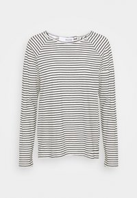 Selected Femme - SLFBELIVE TEE - Long sleeved top - black/snow white - 0