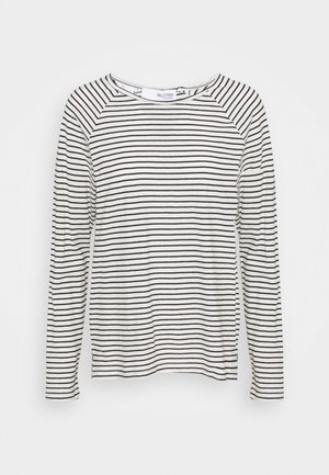 SLFBELIVE TEE - Long sleeved top - black/snow white