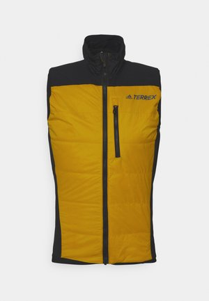 TECHNICAL SPORTS SKI TOURING FILLED VEST - Waistcoat - gold/black