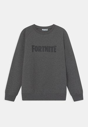 NKMFORTNITE FRASER  - Sweatshirt - mottled dark grey