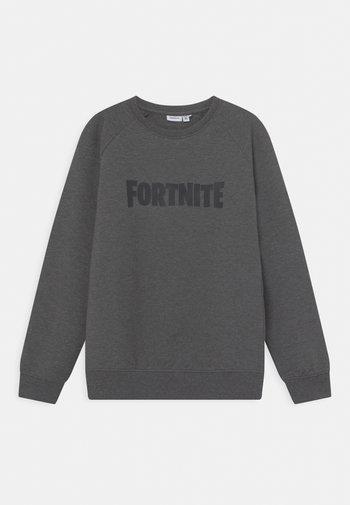 NKMFORTNITE FRASER  - Sweater - mottled dark grey
