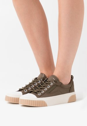 OSCAR LACE UP - Mocassins - olive
