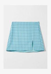 Bershka - A-line skirt - blue - 4