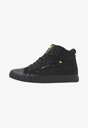 DEE - Sneakers alte - black leopard/gold/black