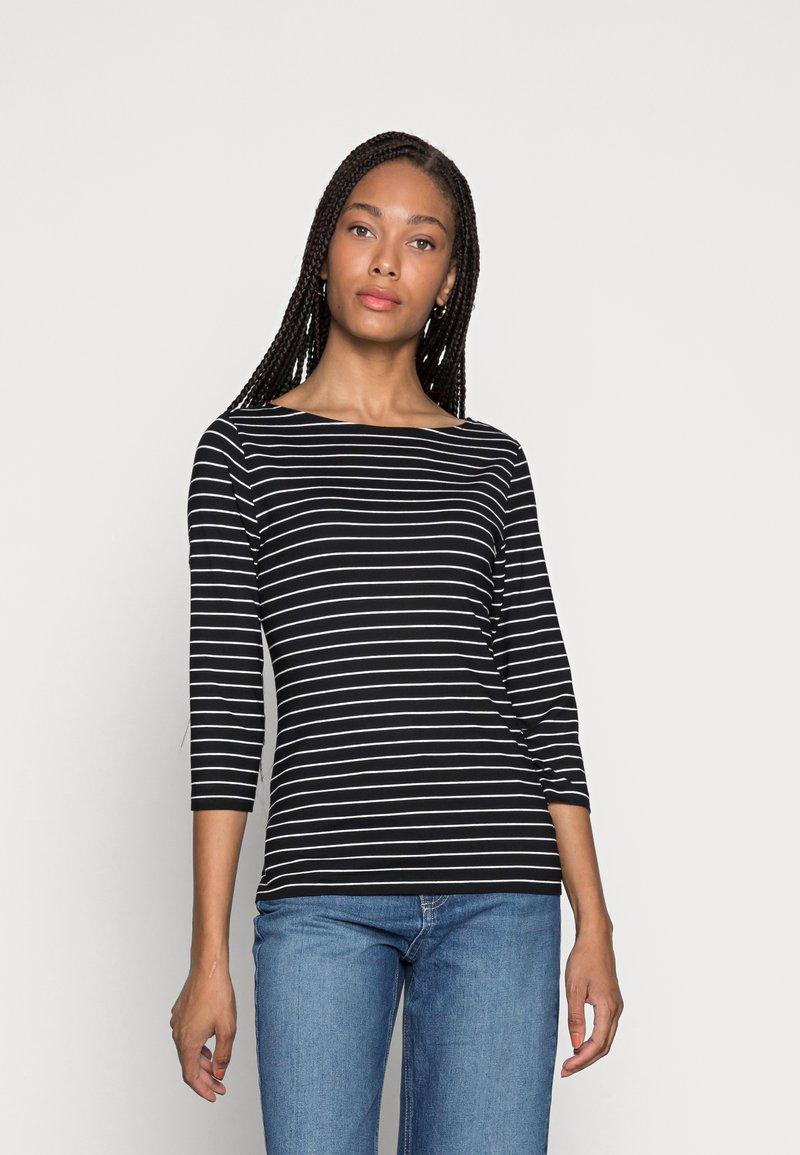 someday. - KELISA STRIPE - Long sleeved top - black