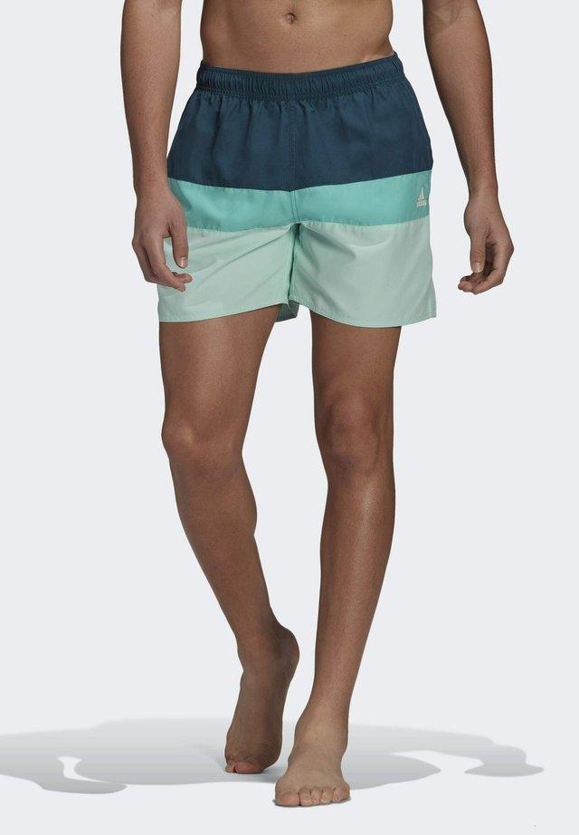 SHORT-LENGTH COLORBLOCK BADESHORTS - Swimming shorts - turquoise