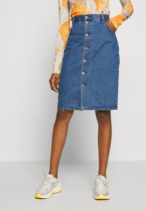 HIGH PENCIL SKIRT - Pencil skirt - ashley blue