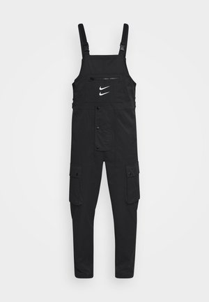 OVERALLS - Trousers - black/white
