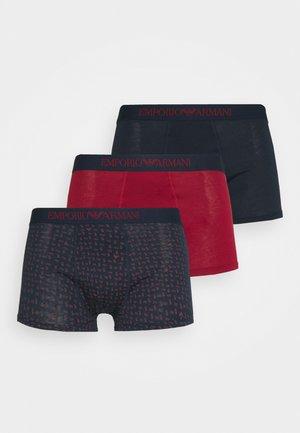TRUNK 3 PACK - Pants - rosso borgogna