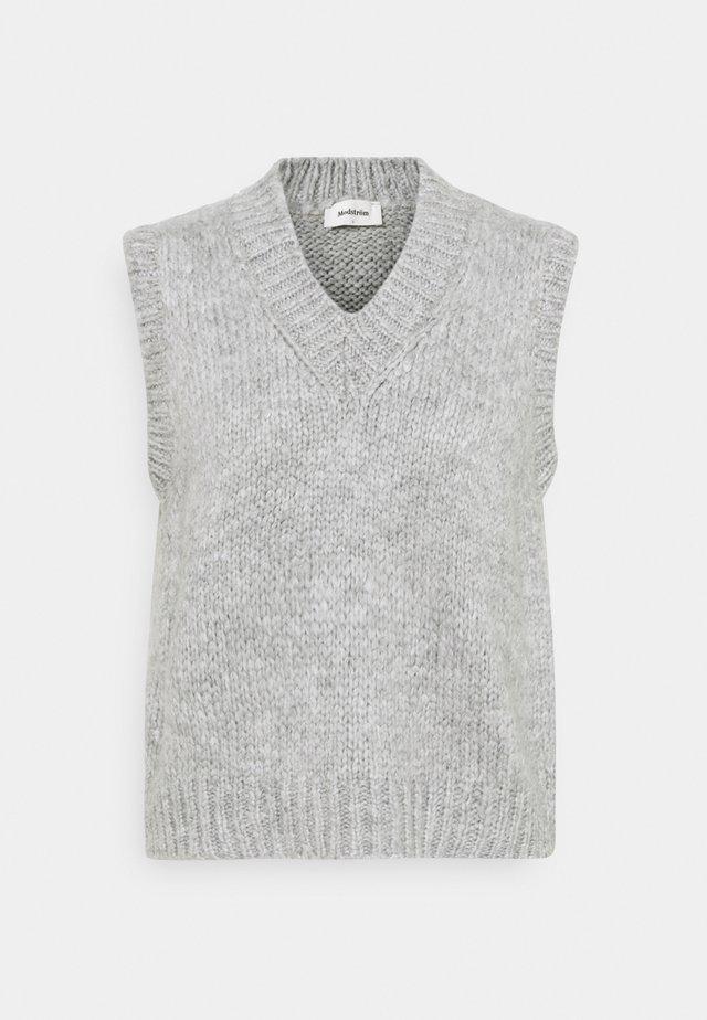 VALENTIA V NECK - Strickpullover - grey melange