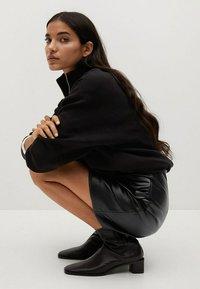 Mango - Wrap skirt - noir - 4