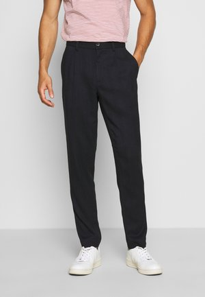 PLEATED PANTS - Pantaloni - navy