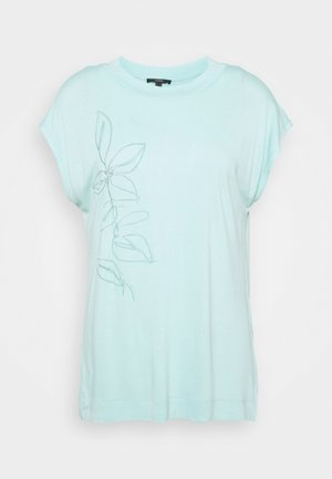 FLOWER LEAF TEE - Print T-shirt - light turquoise