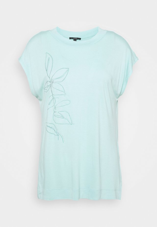 FLOWER LEAF TEE - T-shirts print - light turquoise