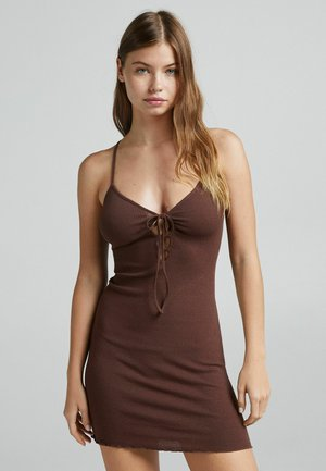 Etui-jurk - brown