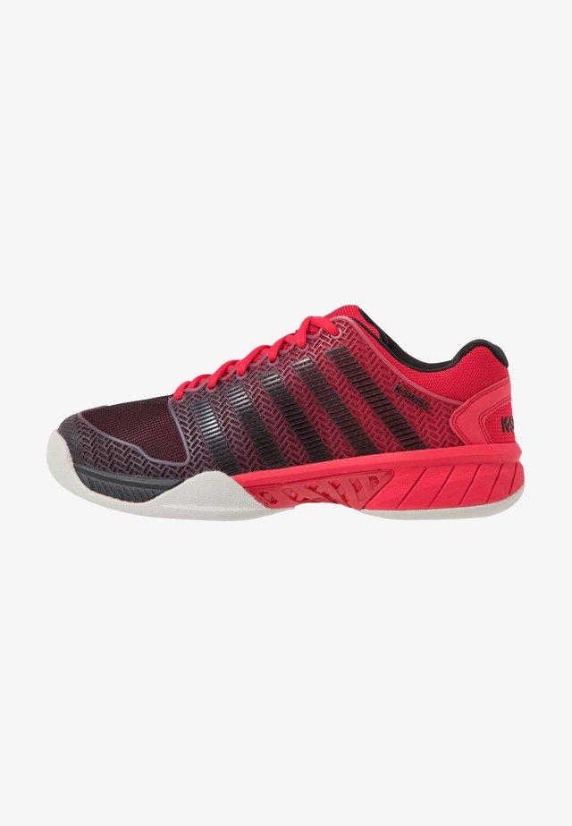 HYPERCOURT EXPRESS CARPET - Clay court tennis shoes - lollipop/black/gull gray