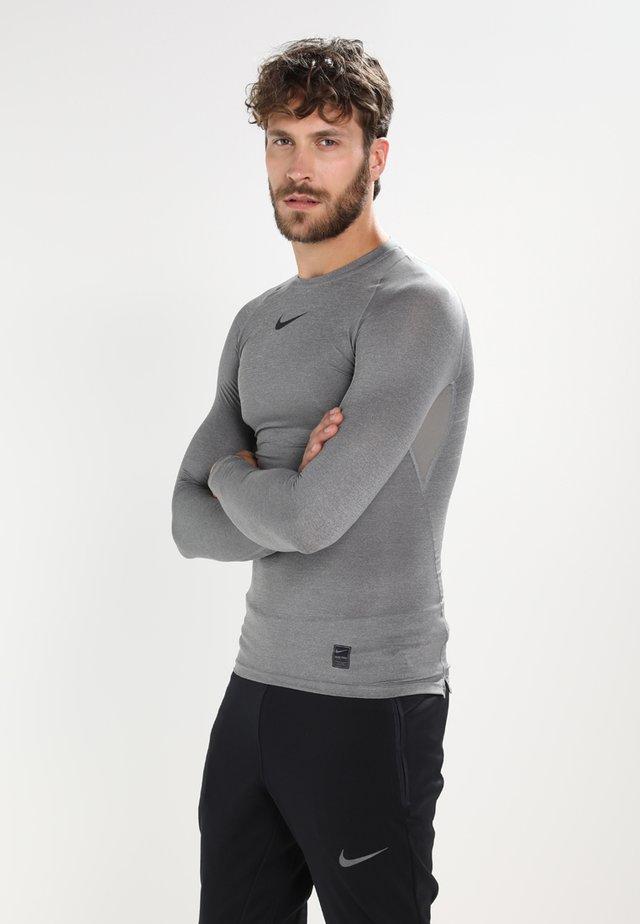PRO COMPRESSION - Unterhemd/-shirt - carbon heather/black/(black)