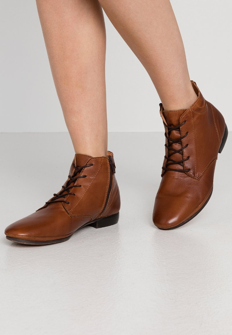 Anna Field - LEATHER BOOTIES - Ankle boots - cognac
