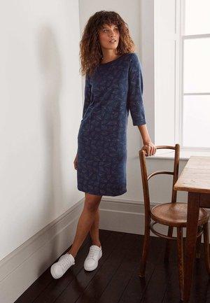 HANNAH - Shirt dress - navy, glitzernde blätter