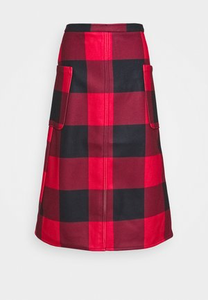 MIDI A LINE SKIRT - A-line skirt - red