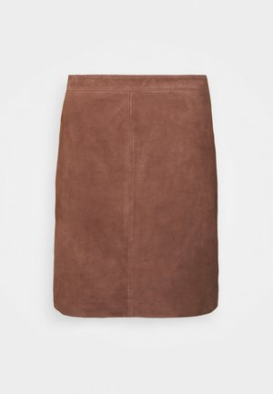 OBJCHLOE SKIRT - Pencil skirt - cognac