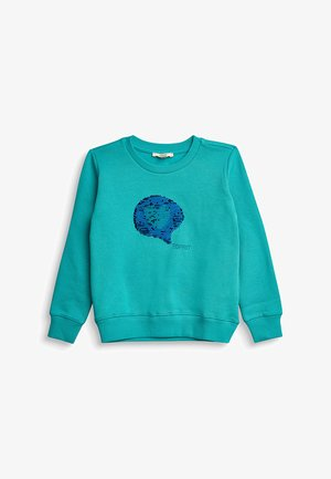Sweatshirt - teal green