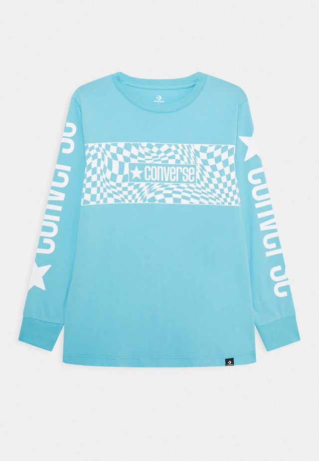 LONG SLEEVE LOGO GRAPHIC UNISEX - Long sleeved top - bleached cyan