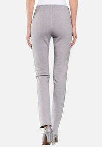 Alba Moda - Leather trousers - hellgrau - 2
