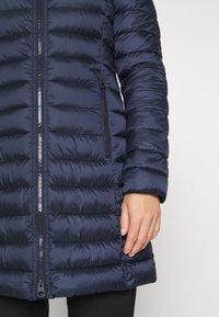 Marc O'Polo - COAT SHAPED FIT ZIPPER POCKETS FIX HOOD - Classic coat - dark night - 5