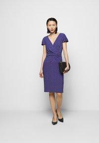 Lauren Ralph Lauren - PRINTED MATTE DRESS - Shift dress - french ultramarin - 1