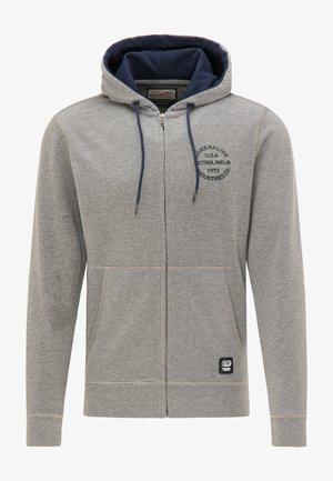 Zip-up sweatshirt - light slate melee