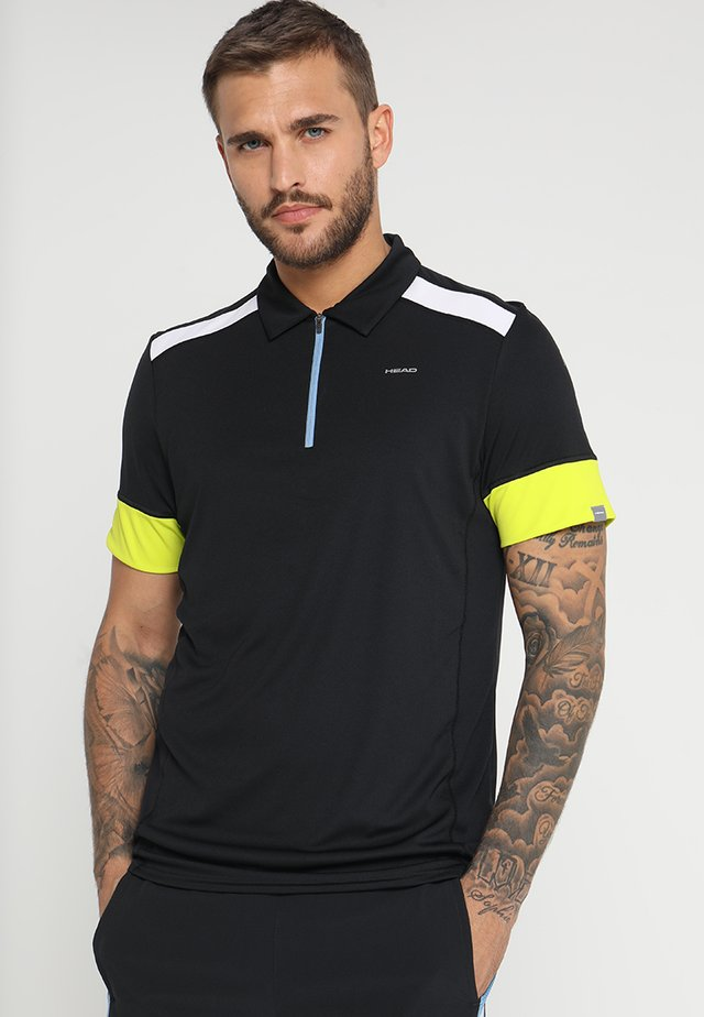 GOLDEN SLAM - Koszulka polo - black/yellow