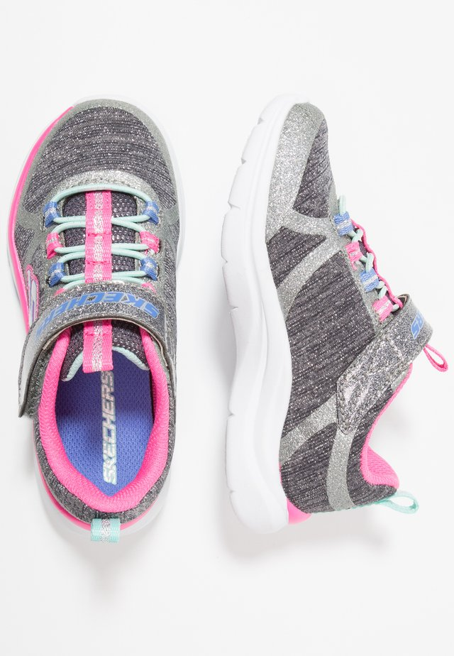 TRAINER LITE - Sneaker low - charcoal/hot pink