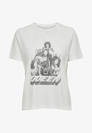 QUEEN - Print T-shirt - cloud dancer