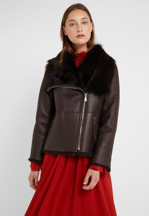 PHILIPPA JACKET - Leather jacket - brown