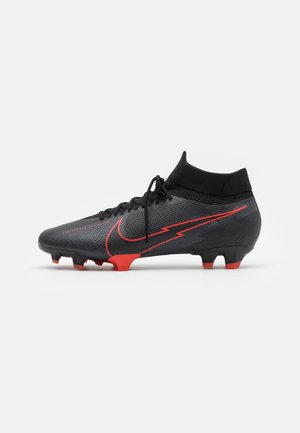 MERCURIAL  7 PRO FG - Moulded stud football boots - black/dark smoke grey