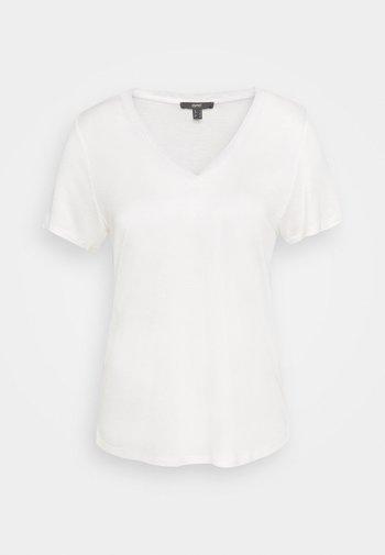 V NECK  - Basic T-shirt - off white