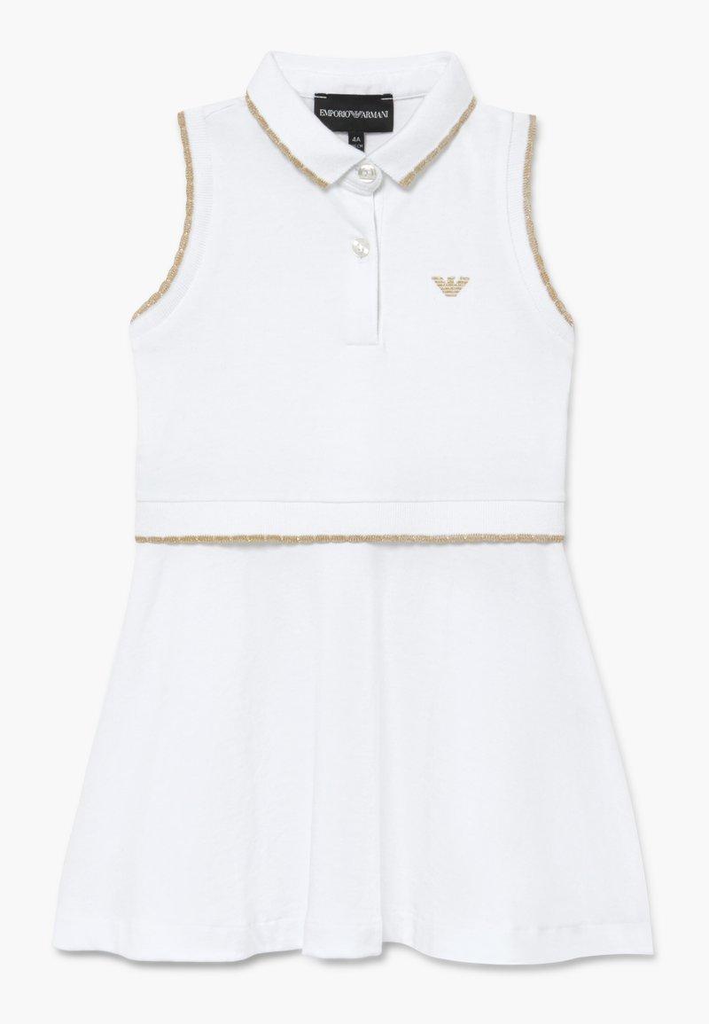 Emporio Armani - VESTITO - Vapaa-ajan mekko - bianco ottico
