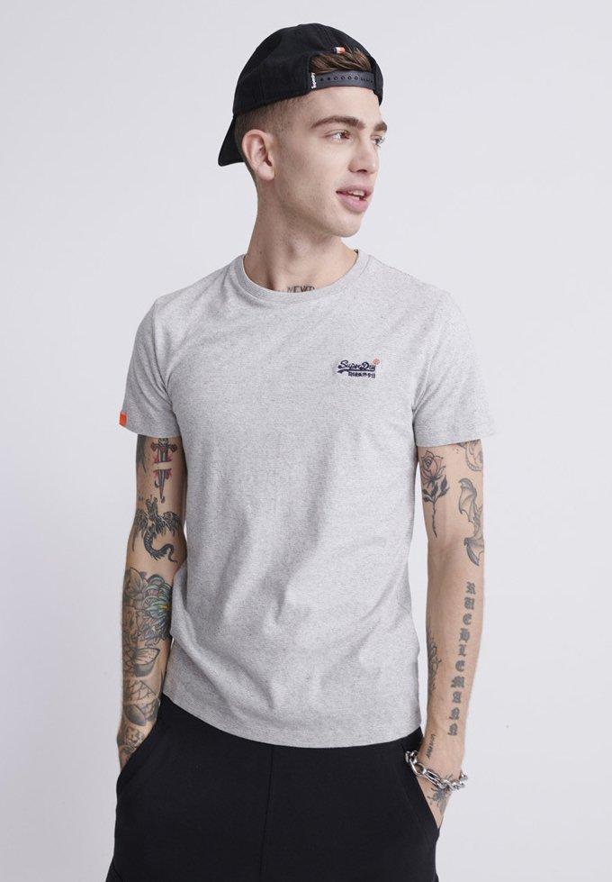 Superdry - VINTAGE CREW - Basic T-shirt - light grey