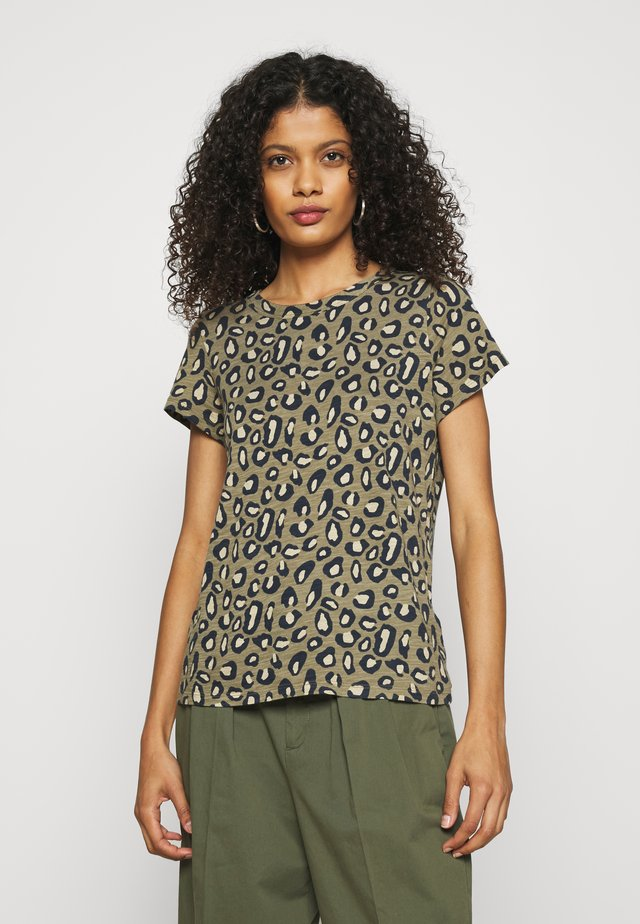 COZY SLUB CREW - T-shirt con stampa - cool leopard