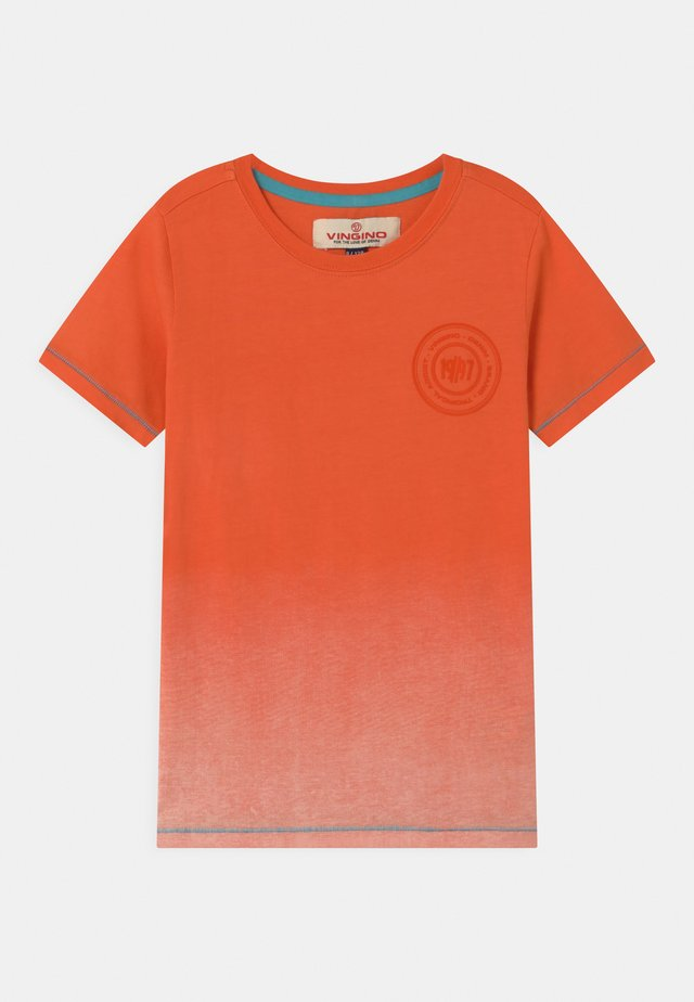 HELON - T-shirt print - orange sun