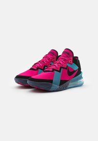 Nike Performance - LEBRON XVIII LOW - Basketball shoes - fireberry/black/light blue fury - 1