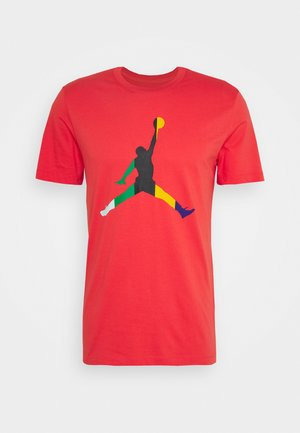 JUMPMAN CREW - Print T-shirt - track red