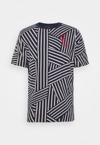 SHORT SLEEVE TEE WITH ALLOVER PRINT - Print T-shirt - blue