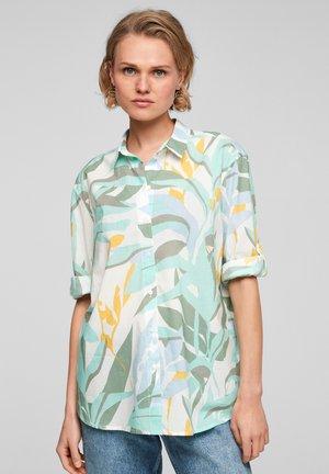 Overhemdblouse - turquoise aop