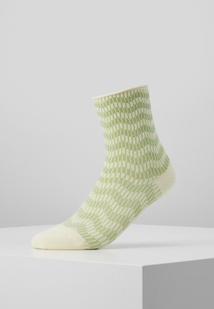 KAREN ZIG ZAG - Socks - yellow/mint