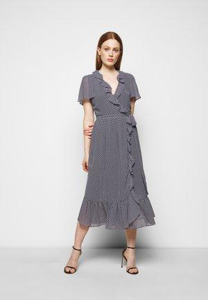 PRINTED MIDI DRESS - Denní šaty - blue